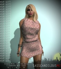 Mesh Zillion Dress by SAS MESH - Teleport Hub - teleporthub.com