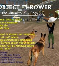 Toy Thrower Usable With Dogs by Dogland Park - Teleport Hub - teleporthub.com