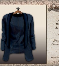 Ady Denim Blazer Dark by TBO - Teleport Hub - teleporthub.com
