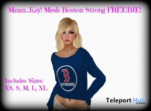 Mesh Boston Strong Sweater by Mmm Kay! - Teleport Hub - teleporthub.com
