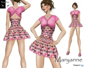 Maryanne Pink Mini Dress by Jeanne Moulliez - Teleport Hub - teleporthub.com