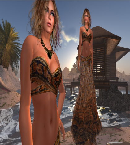 Far Far Away Two Pieces Dress by Paris METRO Couture - Teleport Hub - teleporthub.com