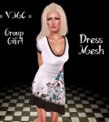 White Mesh Dress Gift by VMC - Teleport Hub - teleporthub.com