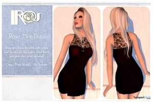Rose Mini Dress Promo by IROS - Teleport Hub - teleporthub.com
