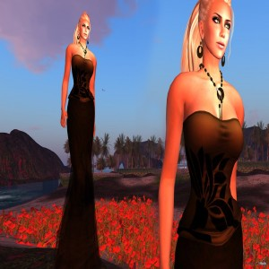 Black Sand Corset Gown by Paris METRO Couture - Teleport Hub - teleporthub.com