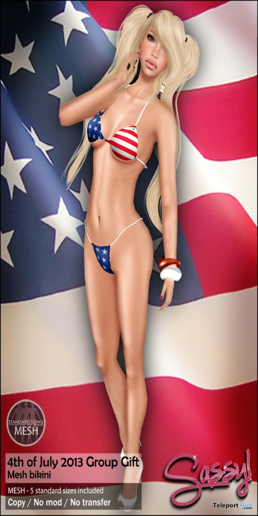 4th of July Bikini Group Gift by Sassy! - Teleport Hub - teleporthub.com