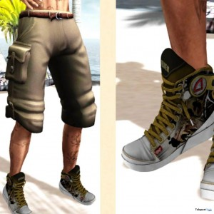 Mesh Cargo Short and Sneakers Group Gift by To Be Unique - Teleport Hub - teleporthub.com