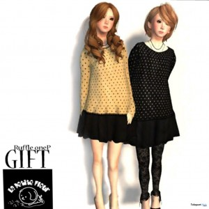 Polka Dot Shirt and Skirt Group Gift by La Petite Fleur - Teleport Hub - teleporthub.com