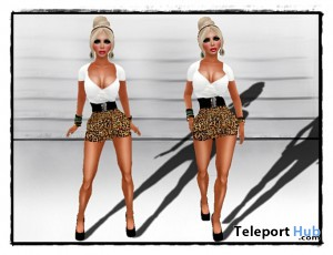 Leopard High-Waist Dress Promo by RR - Teleport Hub - teleporthub.com