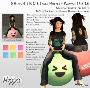Biggie Space Hopper Kawaii by Hippo - Teleport Hub - teleporthub.com