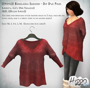 Bohemian Mesh Sweater Dip Dye Pink by Hippo - Teleport Hub - teleporthub.com