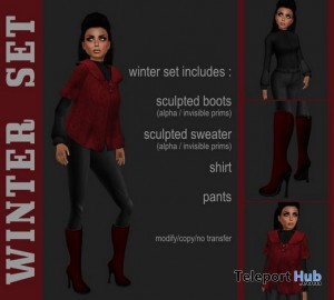 Red Winter Outfit by ROXY - Teleport Hub - teleporthub.com
