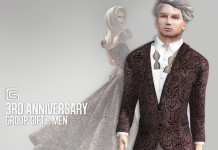 Male Tuxedo 3rd Anniversary Group Gift by Gizza Creations - Teleport Hub - teleporthub.com
