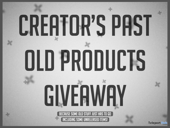 Creator's Past 2009-2011 All Old Products Giveaway by SciLab - Teleport Hub - teleporthub.com