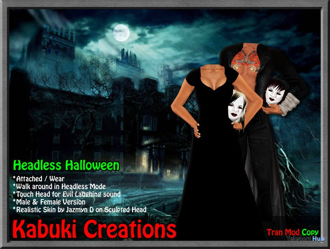 Headless Halloween by Kabuki Creations - Teleport Hub - teleporthub.com