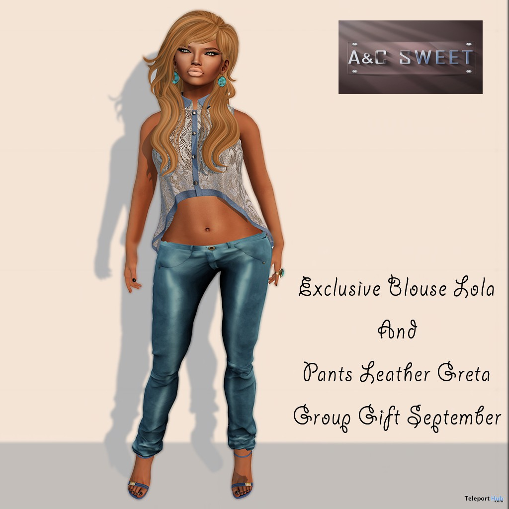 Exclusive Blouse and Leather Pant September 2013 Group Gift by A&C Sweet - Teleport Hub - teleporthub.com