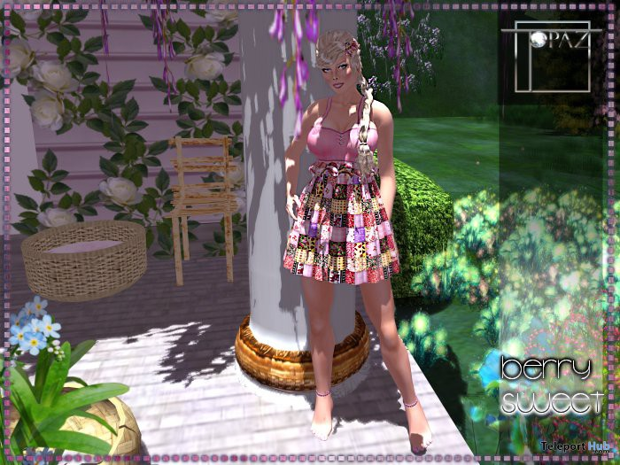 Berry Sweet Pink Dress by Topaz Square - Teleport Hub - teleporthub.com