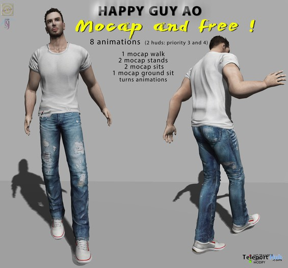 Happy Guy Animation Overrider by TuTy's - Teleport Hub - teleporthub.com