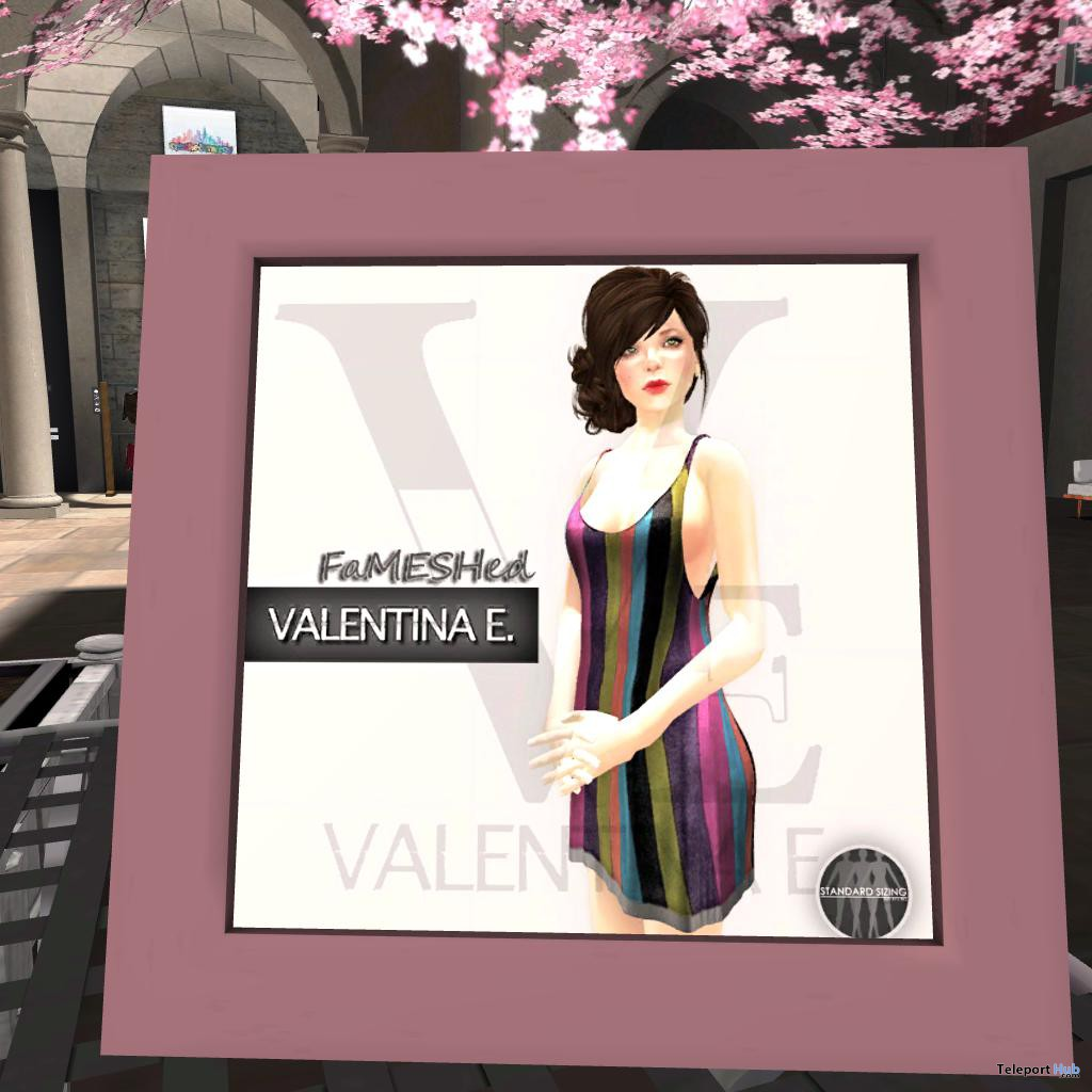 Tank Dress Stripes FaMESHed Group Gift by Valentina E. - Teleport Hub - teleporthub.com