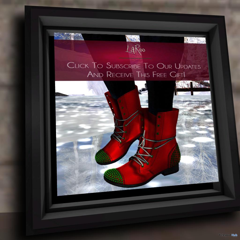 Red Boots Subscriber Gift by LaRoo - Teleport Hub - teleporthub.com