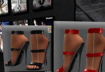 Red and Black Heels Sandals Gift by Ydea - Teleport Hub - teleporthub.com