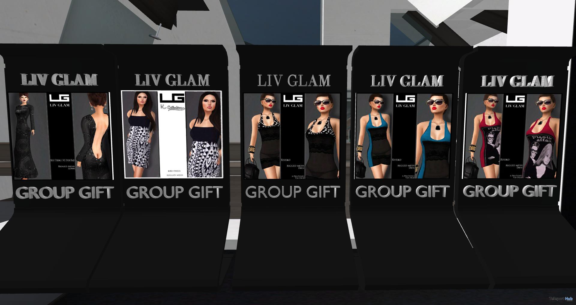 Six Dresses Group Gifts by Liv Glam - Teleport Hub - teleporthub.com