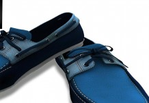 Blue Boat Shoes For Male Group Gift by Gabriel - Teleport Hub - teleporthub.com