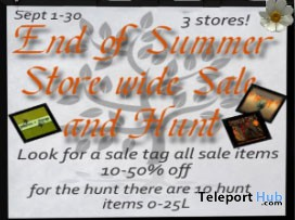 End Of Summer: Sale & Hunt - Teleport Hub - teleporthub.com