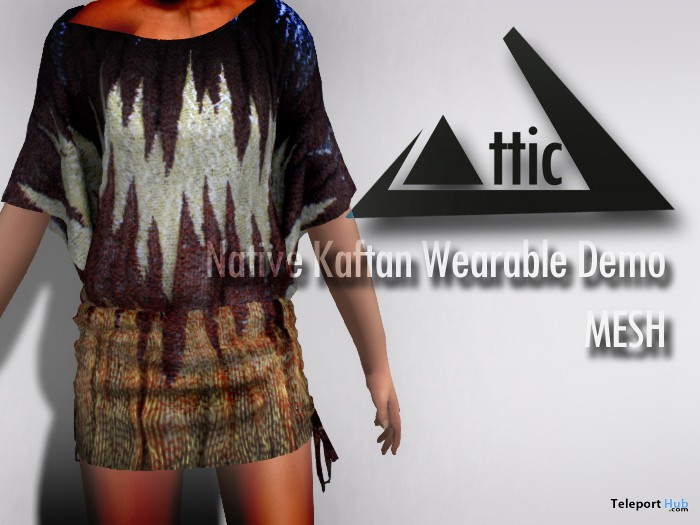 Native Kaftan Mesh Top Wearable Demo by ATTIC - Teleport Hub - teleporthub.com