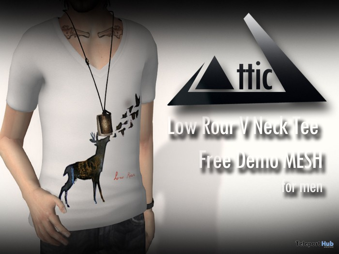 Low Roar V Neck Men Tee Promo by ATTIC - Teleport Hub - teleporthub.com