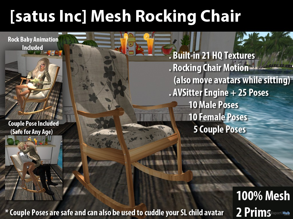 Mesh Rocking Chair by [satus Inc] - Teleport Hub - teleporthub.com