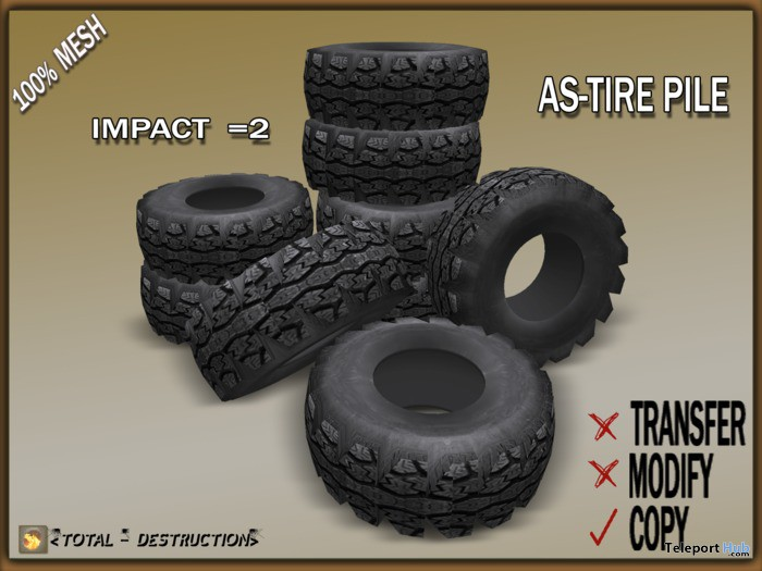 Tire Pile Decor by Total Destruction - Teleport Hub - teleporthub.com