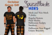 Halloween Tshirt & Shorts October 2013 Group Gift for Him by jazzitude - Teleport Hub - teleporthub.com