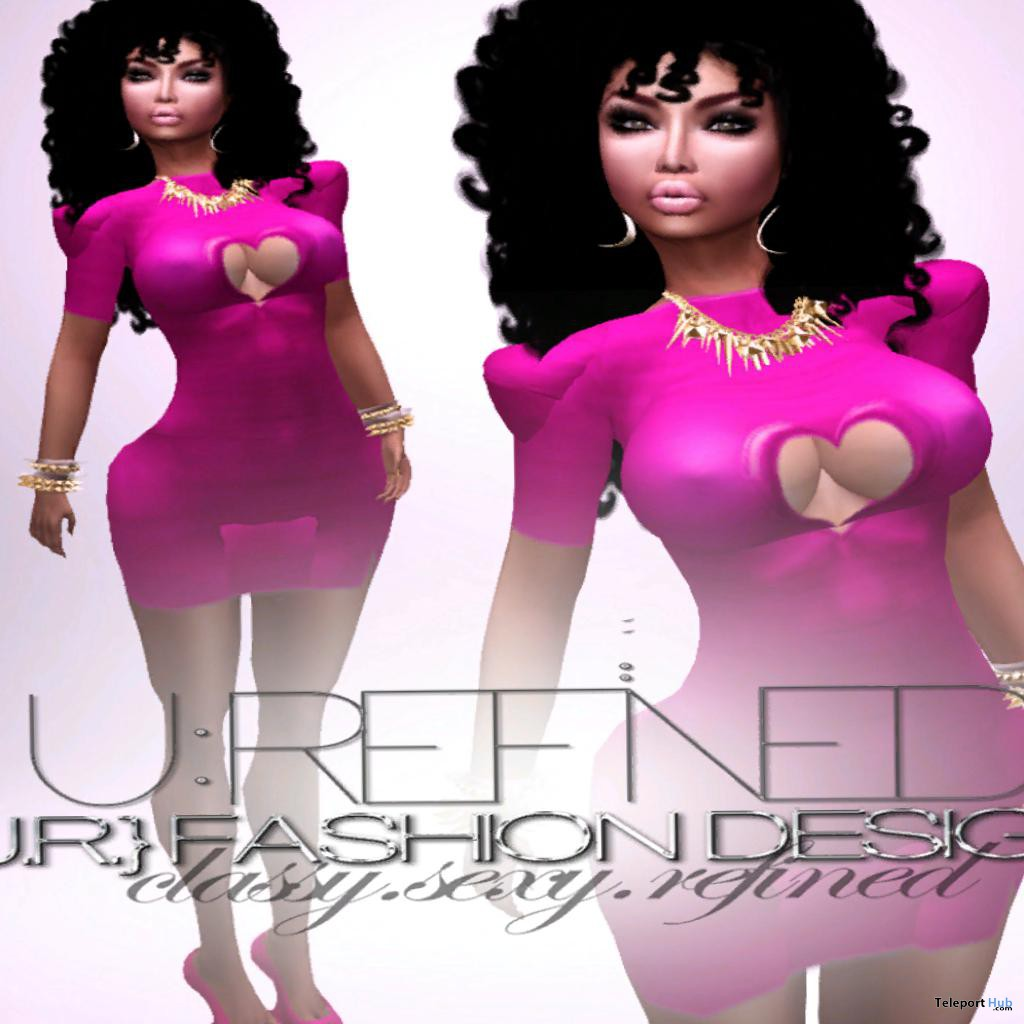 Pink Heart Dress Group Gift by U.R. Fashion Designs - Teleport Hub - teleporthub.com