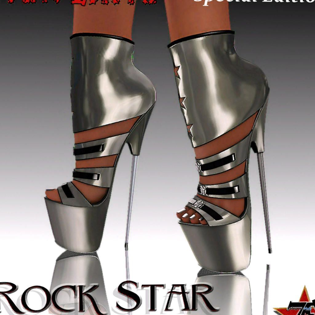 Metal Rock Star High Heels Group Gift by Seven Exits - Teleport Hub - teleporthub.com