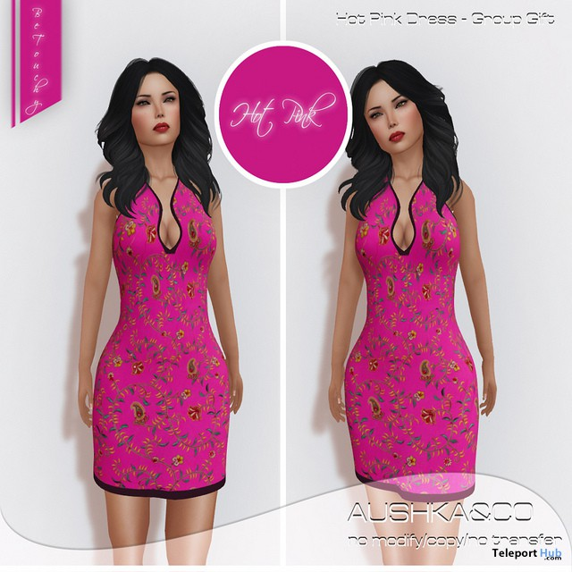 Hot Pink Dress Group Gift by AUSHKA&CO - Teleport Hub - teleporthub.com