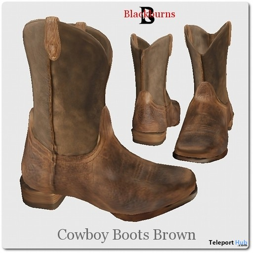 Blackburns Cowboy Boots Brown by Vlad Blackburn - Teleport Hub - teleporthub.com