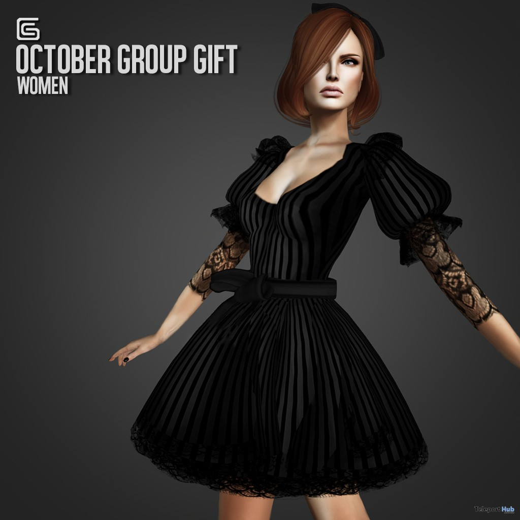 Black Dress October 2013 Group Gift by Gizza Creations - Teleport Hub - teleporthub.com