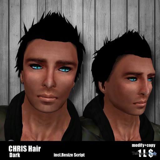 Chris Hair Dark 1L Promo by Genghis Khan 2 - Teleport Hub - teleporthub.com