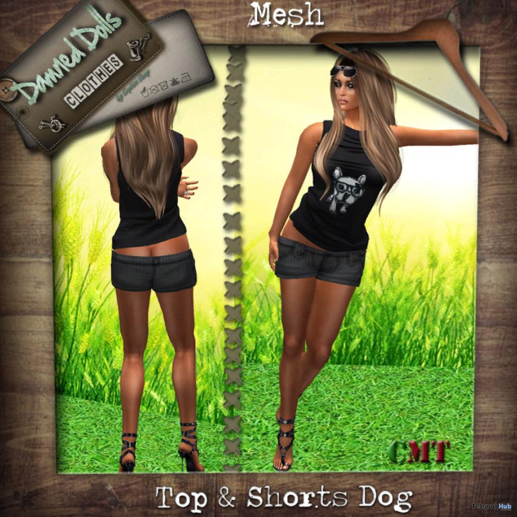 Top Dog and Shorts Group Gift by Dammed Dolls - Teleport Hub - teleporthub.com