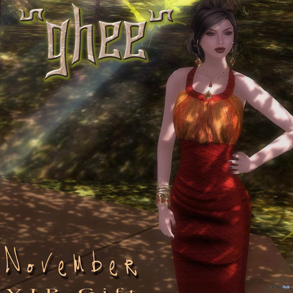 Red Dress November 2013 VIP Group Gift by ghee Red Dress November 2013 VIP Group Gift by ghee - Teleport Hub - teleporthub.com