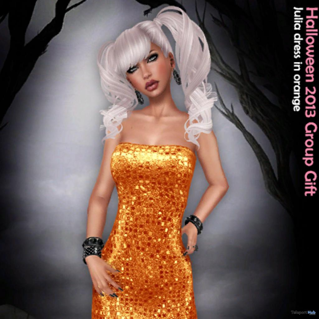Julia Orange Sequin Dress Group Gift by Sassy! - Teleport Hub - teleporthub.com