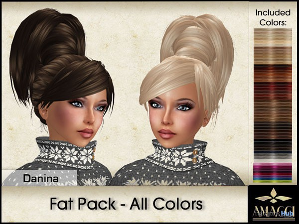 Danina Hair Fat Pack by Amacci - Teleport Hub - teleporthub.com