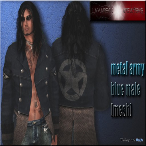 Metal Army Blue Jacket Group Gift by Lavarock Creations - Teleport Hub - teleporthub.com