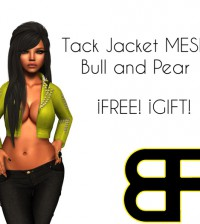 Jacket with Tachels Yellow by BULL & PEAR - Teleport Hub - teleporthub.com