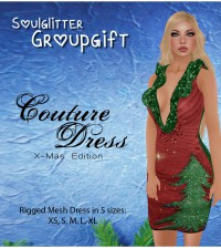 Couture Dress X-Mas Edition December 2013 Group Gift by Soulglitter - Teleport Hub - teleporthub.com