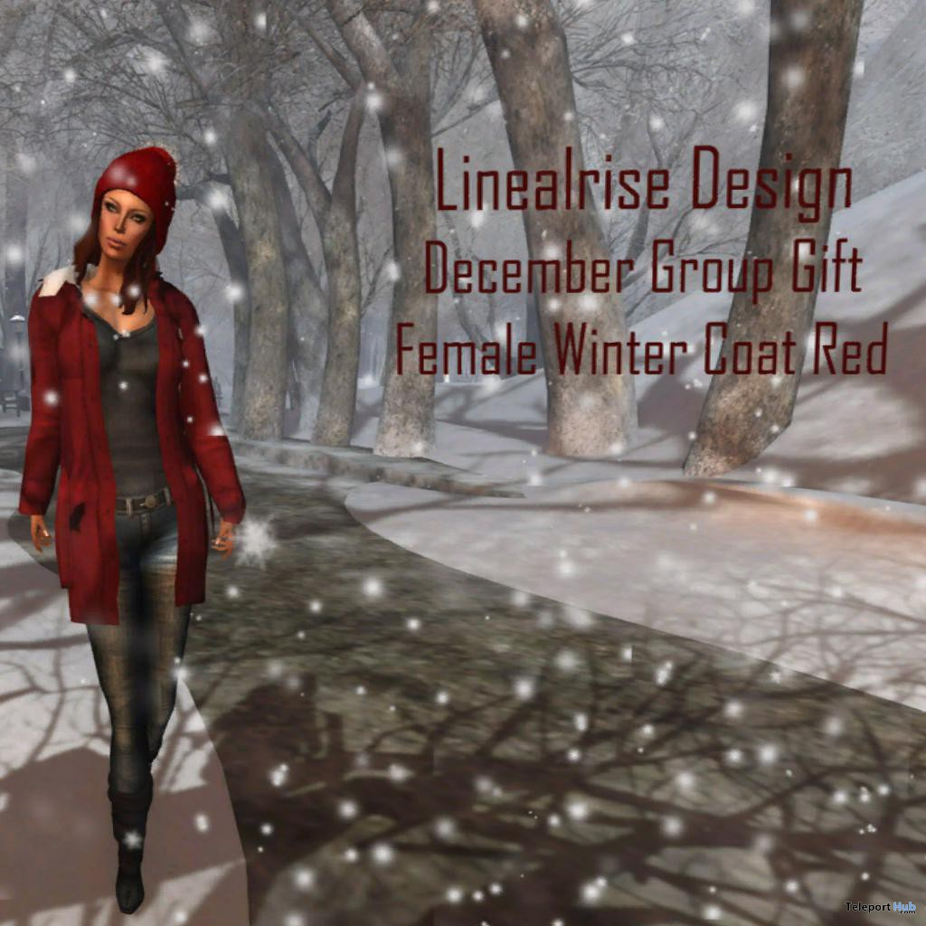 Female red winter coat group gift by linealrise design for Winter design group
