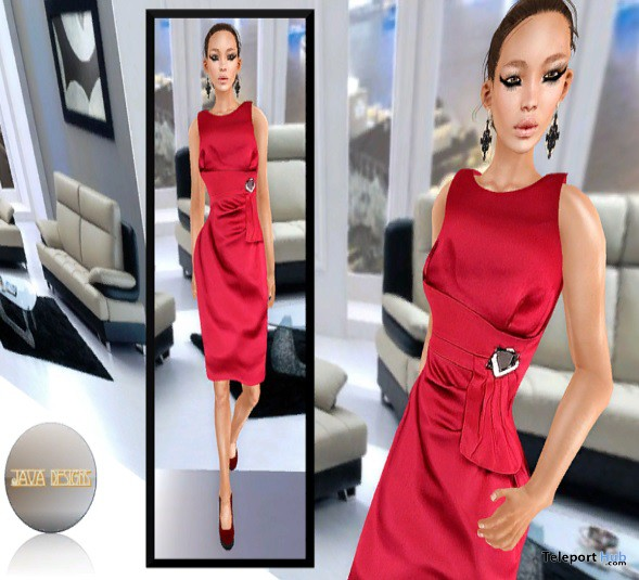 Ruby Red Dress Gift By JAVA Fashion Designs