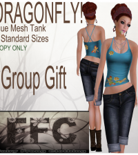 Dragonfly Blue Mesh Tank Group Gift by FFC - Teleport Hub - teleporthub.com