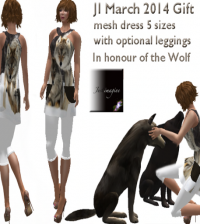 Ji Wolf Mesh Dress March 2014 Group Gift by Wolves Land - Teleport Hub - teleporthub.com